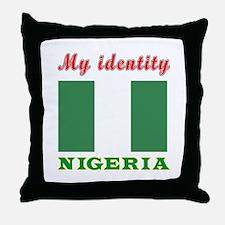 My Identity Nigeria Throw Pillow