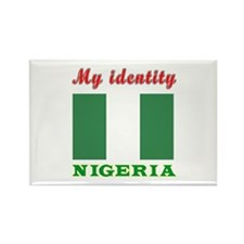 My Identity Nigeria Rectangle Magnet (100 pack)