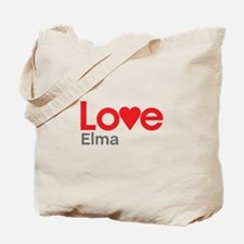 I Love Elma Tote Bag