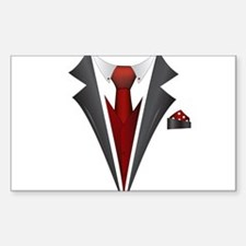 Stylish Red Tie Tuxedo T Shirt Decal