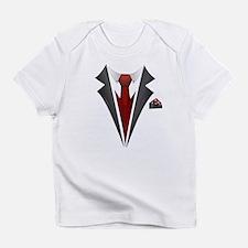 Stylish Red Tie Tuxedo T Shirt Infant T-Shirt