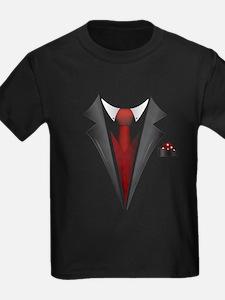 Stylish Red Tie Tuxedo T Shirt T-Shirt