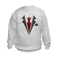 Stylish Red Tie Tuxedo T Shirt Sweatshirt
