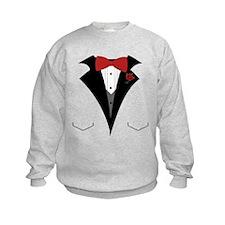 White Dinner Tuxedo t Shirt Sweatshirt