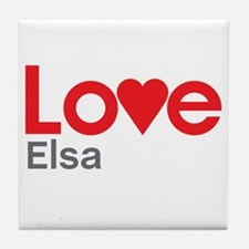 I Love Elsa Tile Coaster