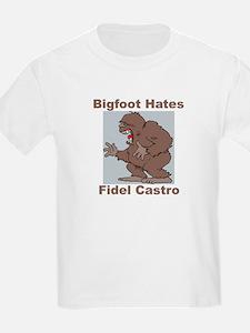 Bigfoot Hates Castro Kids T-Shirt