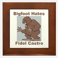 Bigfoot Hates Castro Framed Tile