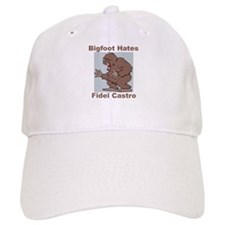 Bigfoot Hates Castro Baseball Cap