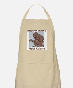 Bigfoot Hates Castro BBQ Apron