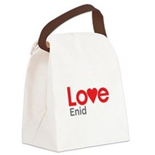 I Love Enid Canvas Lunch Bag