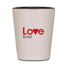 I Love Enid Shot Glass