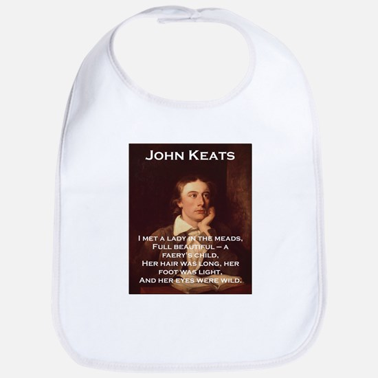I Met A Lady In The Meads - John Keats Cotton Baby