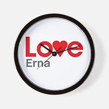I Love Erna Wall Clock