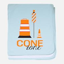 Cone Zone baby blanket