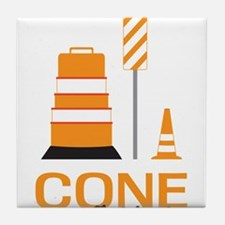 Cone Zone Tile Coaster