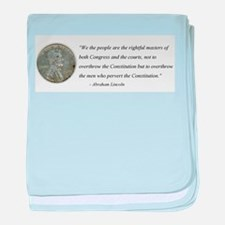 Abraham Lincoln Constitution quotation baby blanke