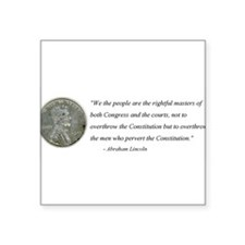 Abraham Lincoln Constitution quotation Sticker