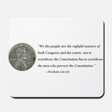 Abraham Lincoln Constitution quotation Mousepad