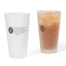 Abraham Lincoln Constitution quotation Drinking Gl
