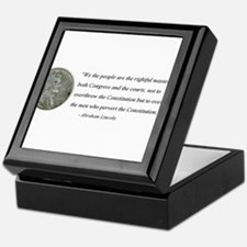 Abraham Lincoln Constitution quotation Keepsake Bo