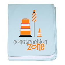 Construction Zone baby blanket