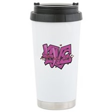 Funky Love Graffiti Thermos Mug