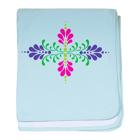 Floral Decoration baby blanket
