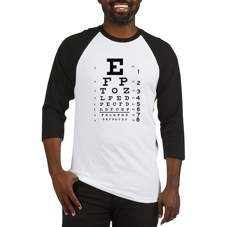 Eye chart gift Baseball Jersey