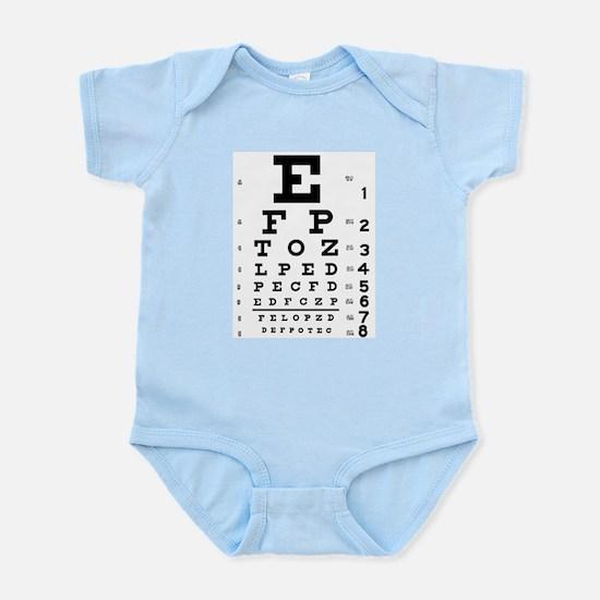 Eye chart gift Infant Bodysuit