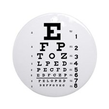 Eye chart gift Ornament (Round)