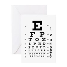 Eye chart gift Greeting Card