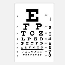 Eye chart gift Postcards (Package of 8)