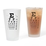 Eye chart Pint Glasses