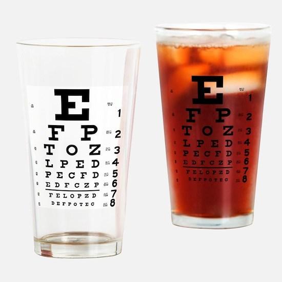 Eye chart gift Drinking Glass