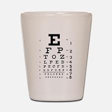 Eye chart gift Shot Glass