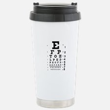 Eye chart gift Travel Mug