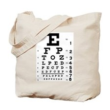 Eye chart gift Tote Bag