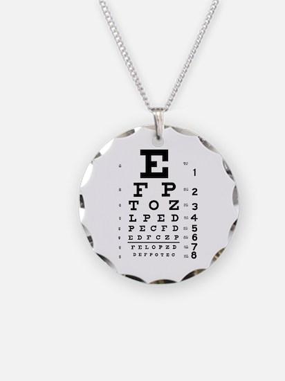 Eye chart gift Necklace