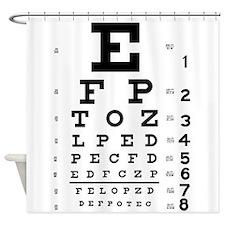 Eye chart gift Shower Curtain