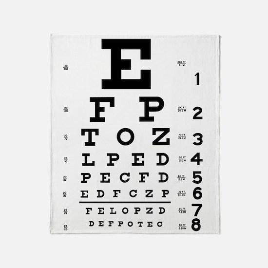 Eye chart gift Throw Blanket