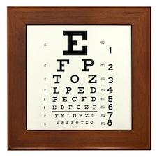 Eye chart gift Framed Tile