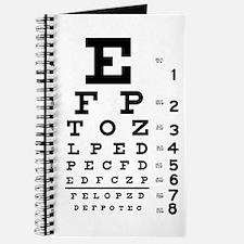 Eye chart gift Journal
