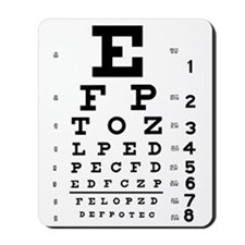 Eye chart gift Mousepad