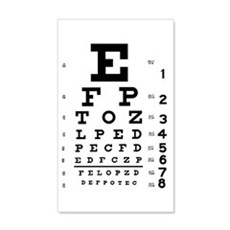 Eye chart gift Wall Decal