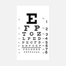 Eye chart gift Decal