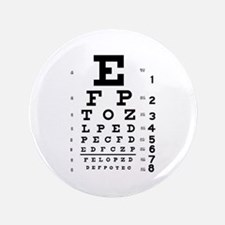 "Eye chart gift 3.5"" Button"