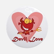 Devil Love Ornament (Round)