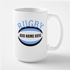 Rugby Name Light Blue Mug