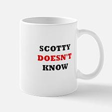 Scotty doesn't know Mug