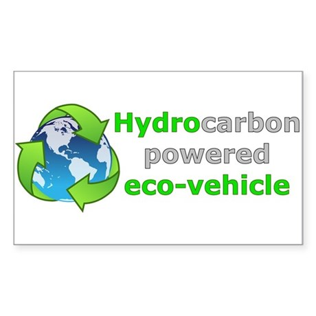 Hydrocarbon Powered Oval Sticker